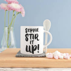 Personalised 'Stir It Up' Spoon Mug Set