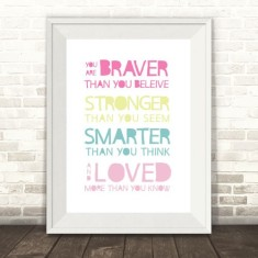 Braver, Stronger And Smarter Print