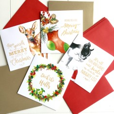 Large Cheeky Christmas cards with envelopes (pack of 4)