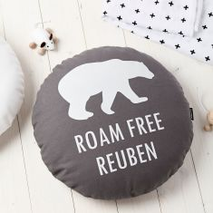 Roam Free Personalised Round Cushion
