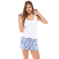 Petals Short & Tank Set Blue & White