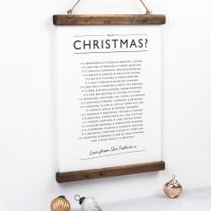 Christmas Poem Print