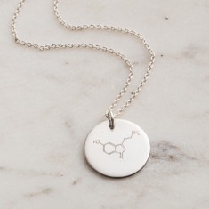 Personalised Happiness Molecule Necklace