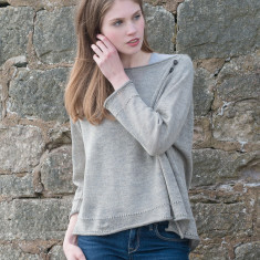 Alpaca & Linen Raglan Crop Sweater