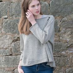 Alpaca & Linen Raglan Crop Sweater