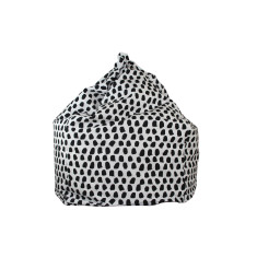 Paint Splotches - Black & White Bean Bag Cover