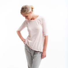 Tuck In Tee in Powder Pink