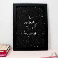 Infinity art print in black