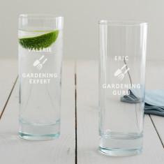 Personalised Gardening Hi Ball Glass