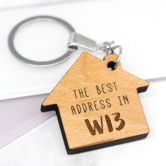 Personalised Best Address Keyring