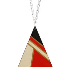 Red and black triangle necklace