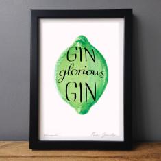 Gin glorious gin humorous print