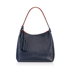 Sofala Reversible Hobo - Navy Full Grain European Leather