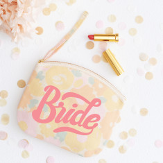 Bride Floral Canvas Pouch