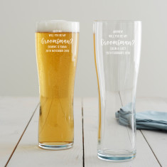 Personalised 'Will You Be My Groomsman?' Pint Glass