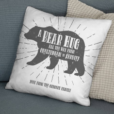 Personalised A Bear Hug From Locations Cushion