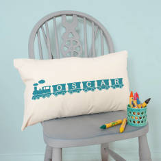 Personalised Name Train Children's Cushion