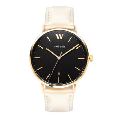 Versa 40 Watch In Gold with Sand Band