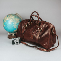 The Flero M Italian Leather Cabin Luggage Bag