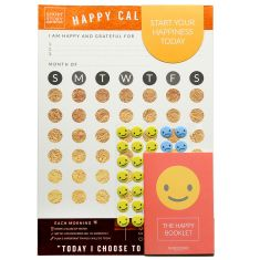 Happy Calendar In Bronze Foil