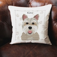 Westie personalised cushion cover