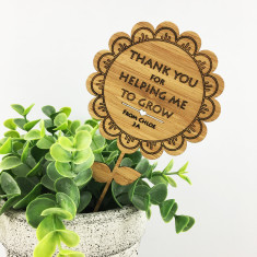 Personalised thank you for helping me grow bamboo flower