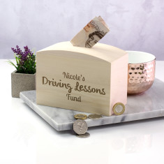 Personalised Driving Lessons Fund Money Box