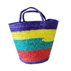 Bahiti basket in striped tropical
