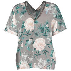 nooki design lexi clea floral print top with bead detail