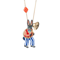 Horn Player Rabbit Necklace