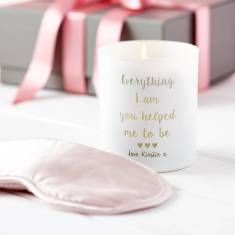 Personalise Scented Candle and Silk Eye Mask Gift Set