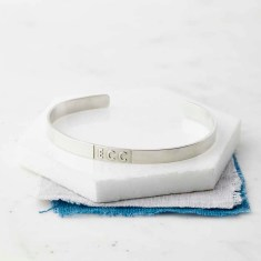 Personalised Sterling Silver Initials Or Date Bangle