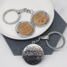 Personalised locket keyring