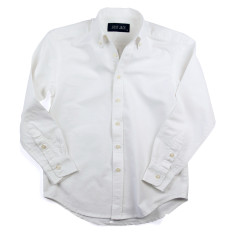 Boys Long Sleeved White Oxford Shirt