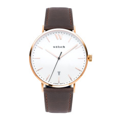 Versa 40 Watch In Rose Gold with Brown Band