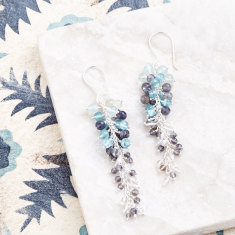 Sara cascade earrings in silver