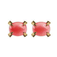 Coral Sira stud earrings
