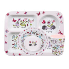 Tyrrell Katz Secret Garden Melamine Compartment Set (Tray, Bowl and Cup)