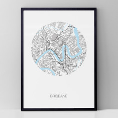 Brisbane round print