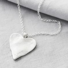 Silver Maxi Heart Love Pendant