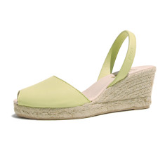 Foro velvet leather sandals in lime