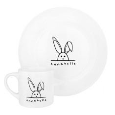 Children's Personalised Rabbit Plate And Mug Set