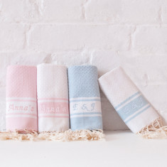 Personalised Embroidered Fouta Bathroom Towel
