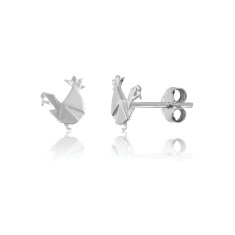 Rooster Origami Stud Earrings