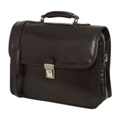Berlin leather briefcase in black