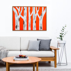Spotted Gum Orange Pop – Limited Edtion Silkscreen Print