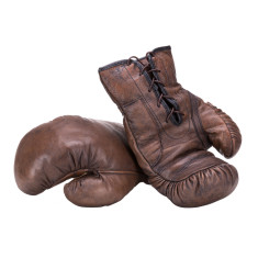 Vintage Style Leather Boxing Gloves