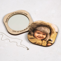 Personalised Square Photo Compact Mirror