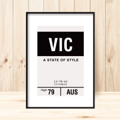 Victoria luggage tag art print (more colours)