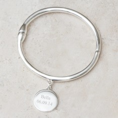 Zanthia Personalised Charm Bangle